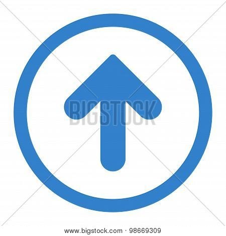Arrow Up flat cobalt color rounded vector icon
