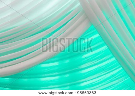 Luxury Sweet White And Green Curtain