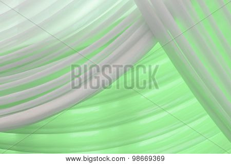 Luxury Sweet White And Green Or Aqua Curtain