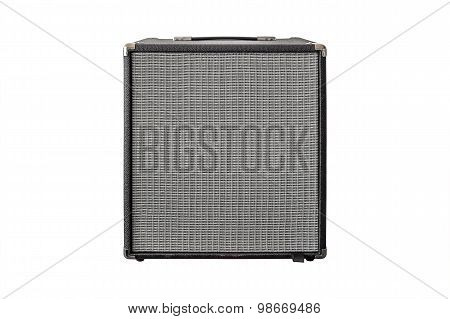 Guitar Power Amplifier Isolated On White Background
