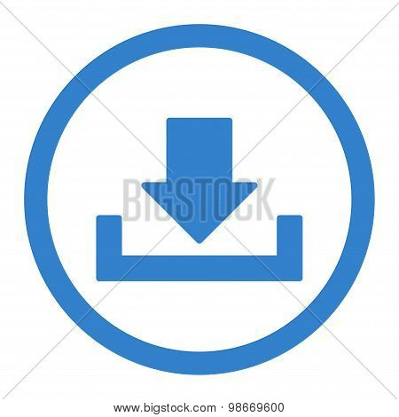Download flat cobalt color rounded vector icon