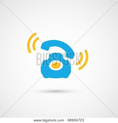 Phone colorful icon - Call, vector illustration.