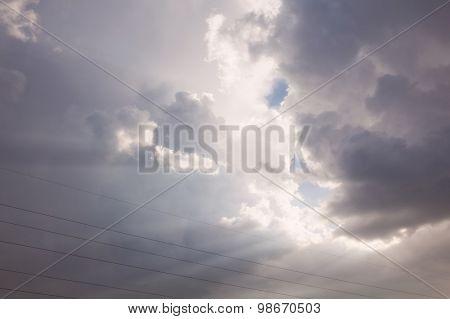 beautiful sky. natural landscape