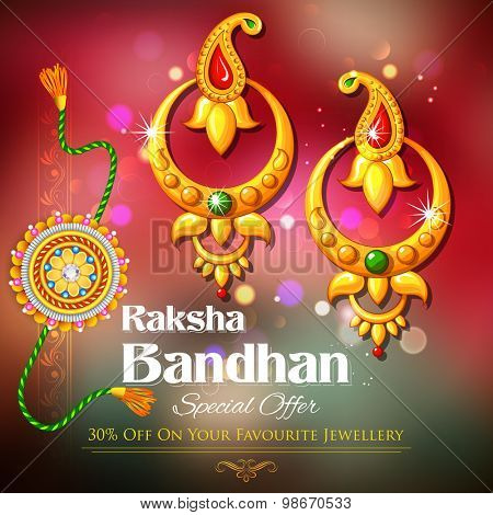 illustration of offer on jewelry for Raksha Bandhan