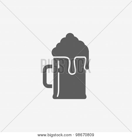 Flat beer icon