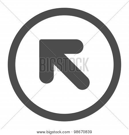 Arrow Up Left flat gray color rounded vector icon