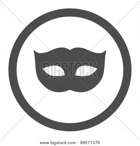 Privacy Mask flat gray color rounded vector icon