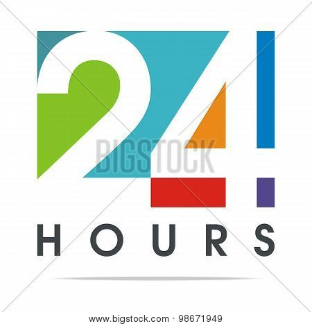 24hour business logo client design vector