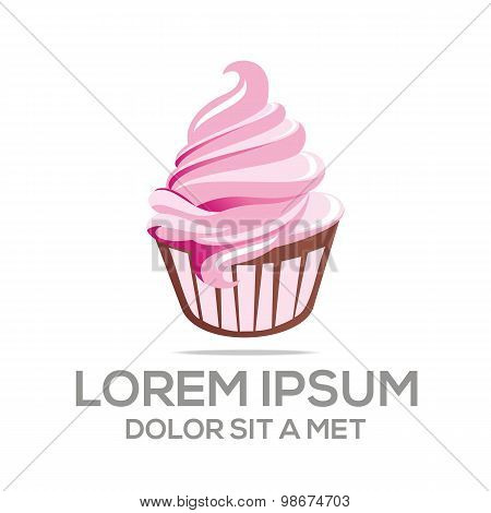 Logo ice cream sandwich drink lovely lollipop kids vector