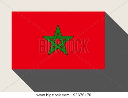 Morocco flag in flat web design style.