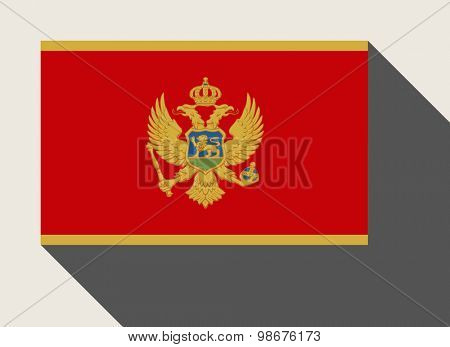 Montenegro flag in flat web design style.