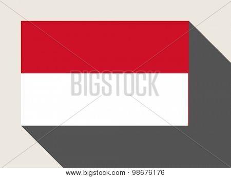 Monaco flag in flat web design style.