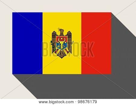 Moldova flag in flat web design style.