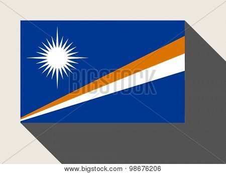 Marshall Islands flag in flat web design style.