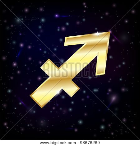 Golden Sagittarius zodiac sign