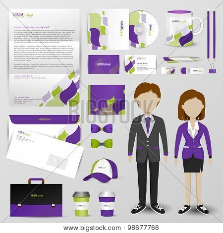 Business Uniform, Office Stationary, And Accessories Tool Such As Staff Shirt, Computer Storage