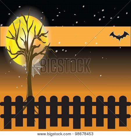 Happy Halloween full moon night