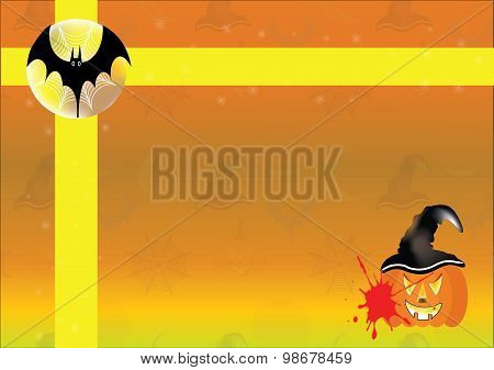 Happy Halloween background in the full moon night