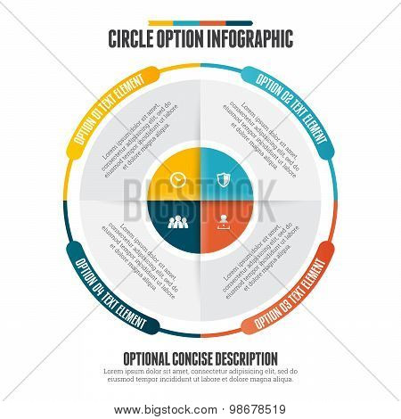 Circle Option Infographic