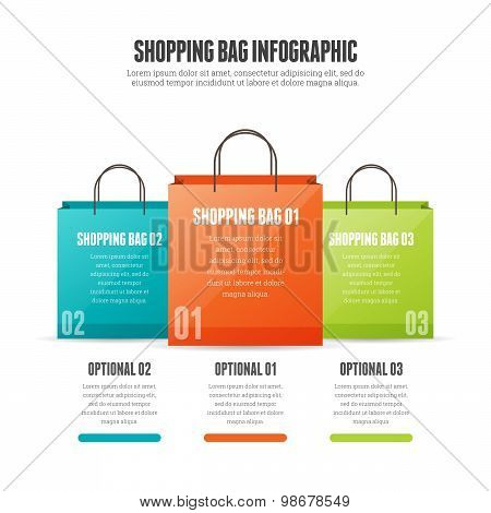 Shopping Bag Infographic