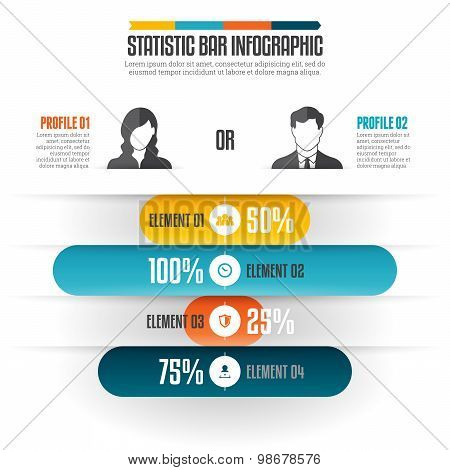 Statistic Bar Infographic