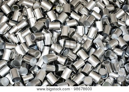 Background Texture Of Aluminium Cans