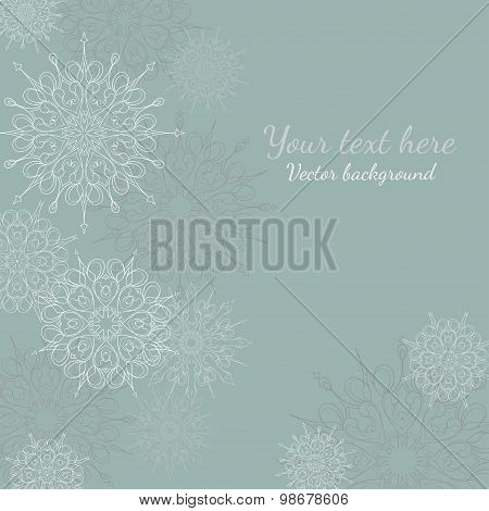 beautiful snowflakes vector background for your text.