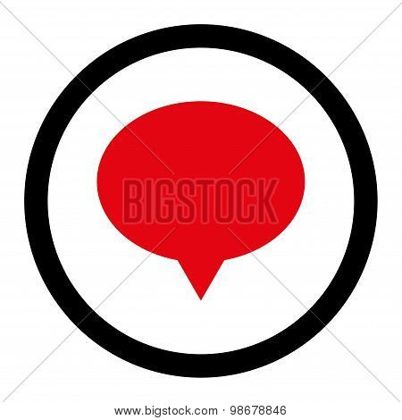 Banner flat intensive red and black colors rounded vector icon