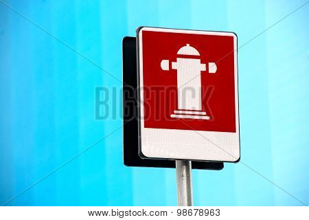 Outdoor Fire Hydrant Street Sign