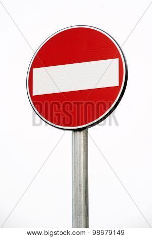 Prohibition Or No Entry Sign