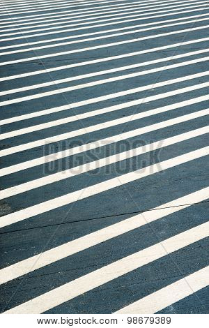White Stripes Painted On A Street
