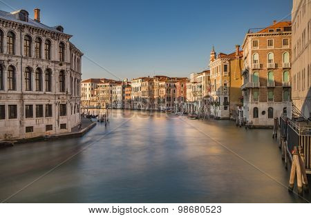 Venice Grand Canal with long exposure