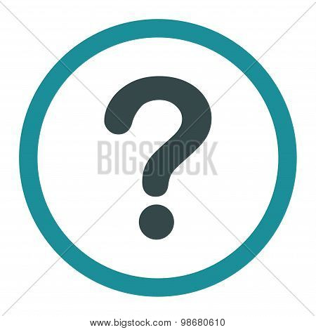 Question flat soft blue colors rounded vector icon