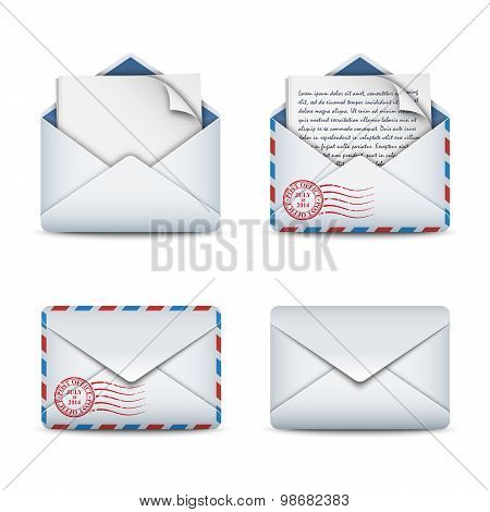 E-mail Icons Concept, Vector Illustration
