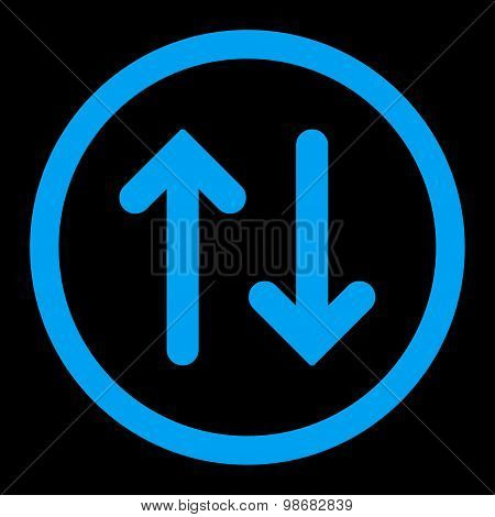 Flip flat blue color rounded raster icon