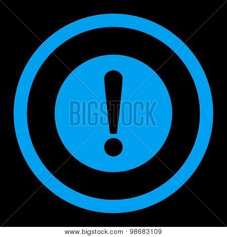 Problem flat blue color rounded raster icon