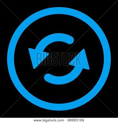 Refresh Ccw flat blue color rounded raster icon