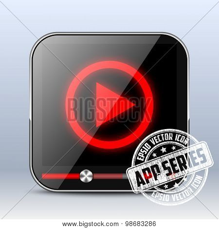 Media Player Icon. App Series