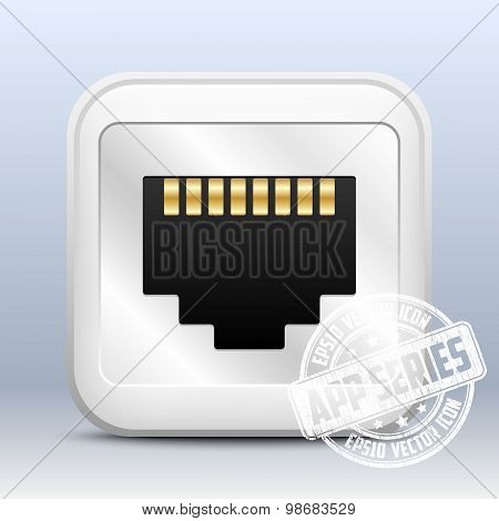 Network Socket Icon, App Series