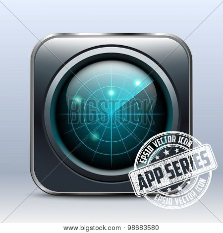 Radar Icon. App Series