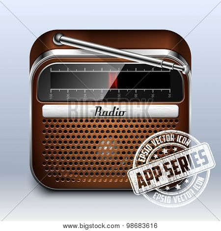 Retro Radio Icon, App Series