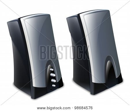 Audio Speakers Icon. Vector Illustration