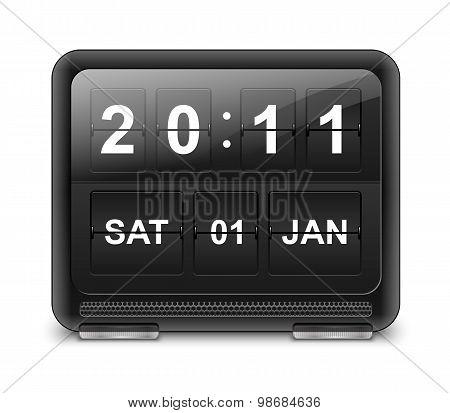 Analog Flip Clock, Vector