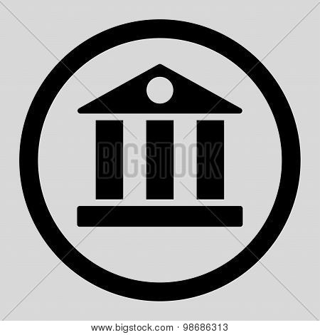Bank flat black color rounded raster icon