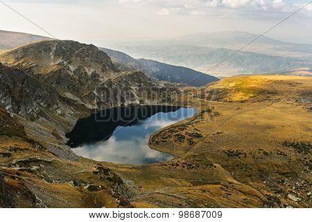 Mountain Lake at Sunset  in Autumn