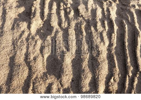 Sand Surface After The Rain