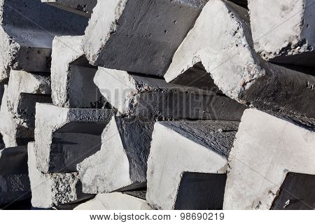 Stack Of Concrete Kerbs