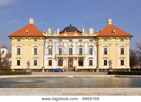 Beautiful castle Slavkov-Austerlitz,Czech republic
