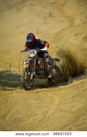 Sibiu, Romania - July 18: Brian Till Competing In Red Bull Romaniacs Hard Enduro Rally With A Madscr