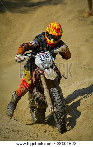 Sibiu, Romania - July 18: Robin Scarry Competing In Red Bull Romaniacs Hard Enduro Rally With A Team